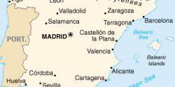 Cartina Della Spagna Geografica.Saragozza Spagna Cartina Geografica
