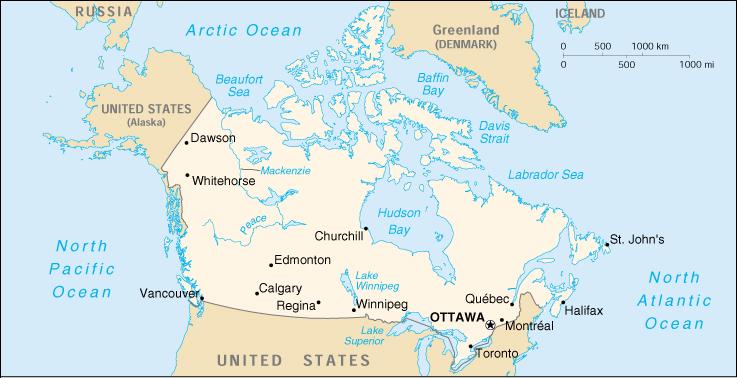 Cartina Canada Politica.Mappa Canada Cartina Geografica E Risorse Utili