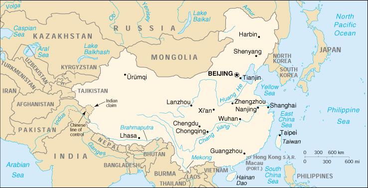 Cina Cartina Fisica Geografica.Mappa Cina Cartina Geografica E Risorse Utili