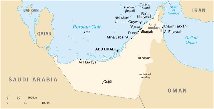 Dubai Sulla Cartina Geografica.Mappa Emirati Arabi Uniti Cartina Geografica E Risorse Utili Viaggiatori Net