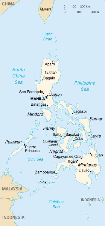 Cartina Geografica Isole Filippine.Mappa Filippine Cartina Geografica E Risorse Utili Viaggiatori Net