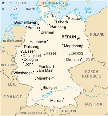 Immagini Cartina Geografica Germania.Mappa Germania Cartina Geografica E Risorse Utili Viaggiatori Net