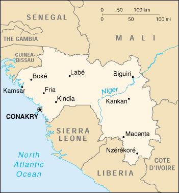 Guinea Cartina Geografica.Mappa Guinea Cartina Geografica E Risorse Utili Viaggiatori Net