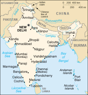 India Del Nord Cartina.Mappa India Cartina Geografica E Risorse Utili Viaggiatori Net