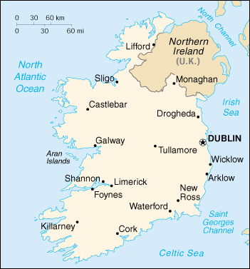 Cartina Geografica Irlanda Del Sud.Mappa Irlanda Cartina Geografica E Risorse Utili Viaggiatori Net