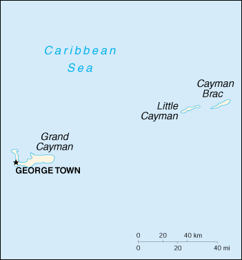 Isole Cayman Cartina Geografica