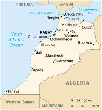 Cartina Geografica Fisica Del Marocco.Mappa Marocco Cartina Geografica E Risorse Utili Viaggiatori Net