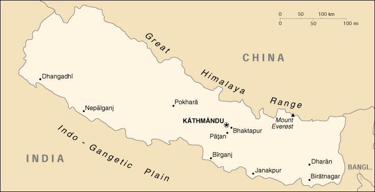 Cartina Dettagliata Del Nepal.Mappa Nepal Cartina Geografica E Risorse Utili Viaggiatori Net