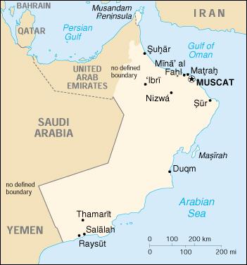 Mappa Oman - cartina geografica e risorse utili - Viaggiatori.net