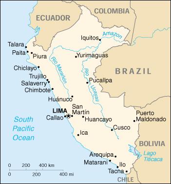 Mappa Peru - cartina geografica e risorse utili - Viaggiatori.net