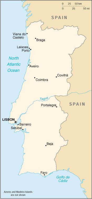 Portogallo Fisica Cartina.Mappa Portogallo Cartina Geografica E Risorse Utili Viaggiatori Net