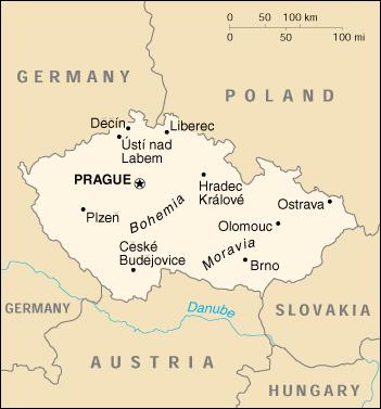 Repubblica Ceca Cartina Europa.Mappa Repubblica Ceca Cartina Geografica E Risorse Utili Viaggiatori Net