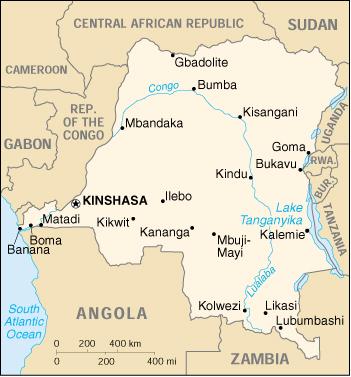 Risultati immagini per congo kinshasa cartina