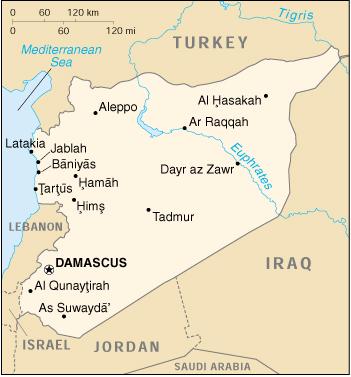 Cartina Mondo Siria.Mappa Siria Cartina Geografica E Risorse Utili Viaggiatori Net