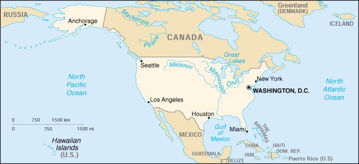 Boston Cartina Stati Uniti.Mappa Stati Uniti Cartina Geografica E Risorse Utili Viaggiatori Net