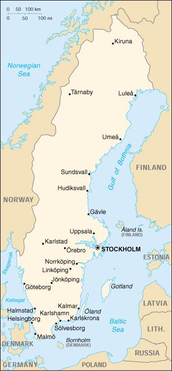 Cartina Della Svezia.Mappa Svezia Cartina Geografica E Risorse Utili Viaggiatori Net