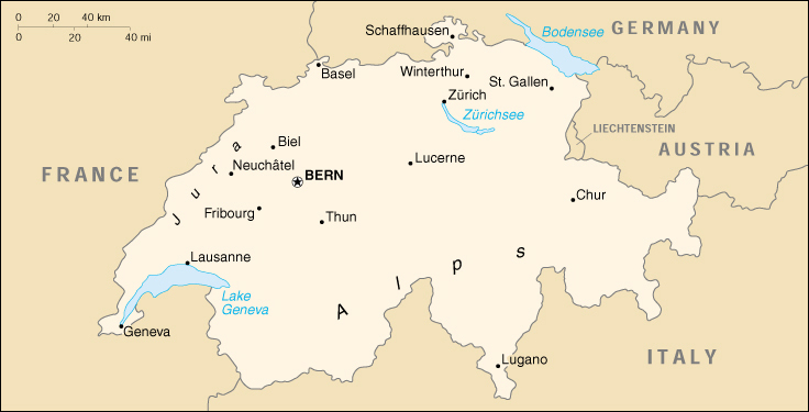 Svizzera Cartina.Mappa Svizzera Cartina Geografica E Risorse Utili