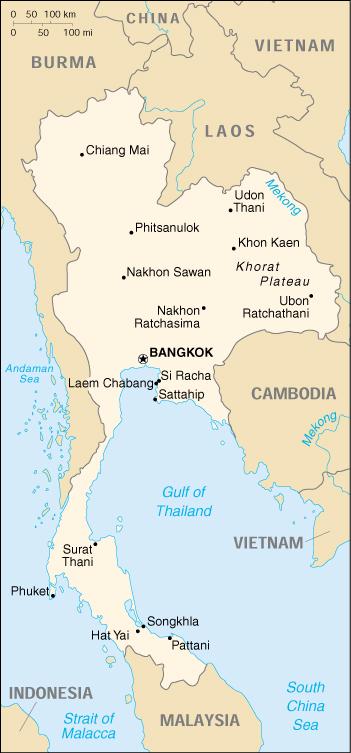 Thailandia Cartina Geografica.Mappa Thailandia Cartina Geografica E Risorse Utili