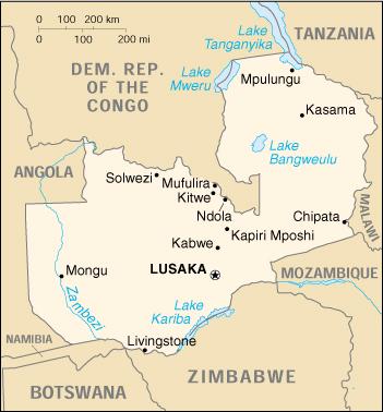 Mappa Zambia - cartina geografica e risorse utili - Viaggiatori.net