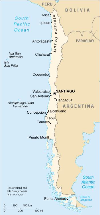 Mappa Cile Cartina Geografica E Risorse Utili