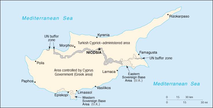 Risultati immagini per mappa cipro