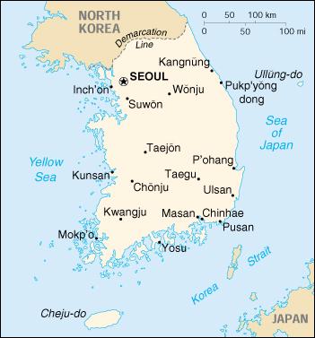 Mappa Corea Del Sud Cartina Geografica E Risorse Utili