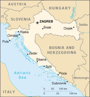 Mappa Croazia Cartina Geografica E Risorse Utili Viaggiatorinet