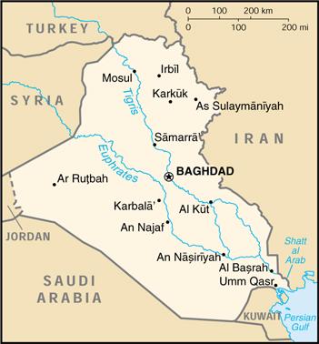 Mappa Iraq Cartina Geografica E Risorse Utili Viaggiatorinet