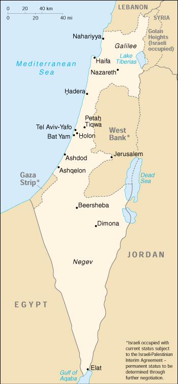Mappa Israele Cartina Geografica E Risorse Utili Viaggiatorinet