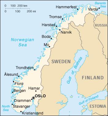Risultati immagini per norvegia cartina