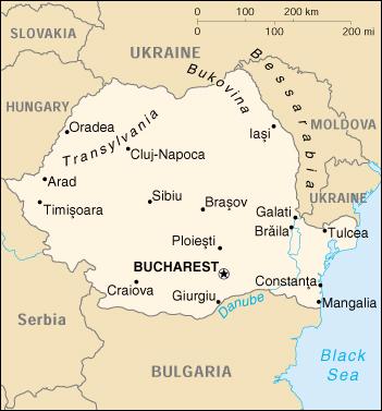 Mappa Romania Cartina Geografica E Risorse Utili Viaggiatorinet